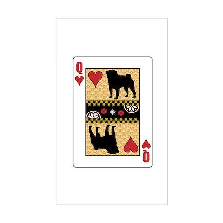 Queen Pug Rectangle Sticker
