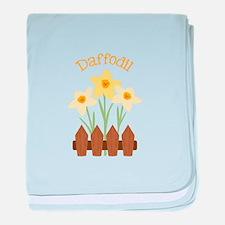 Daffodil baby blanket