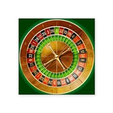 "Roulette Table Square Sticker 3"" x 3"""