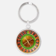 Roulette Table Round Keychain