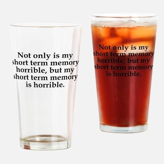 Short Term Memory Drinking Glass