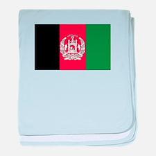 Flag of Afghanistan baby blanket