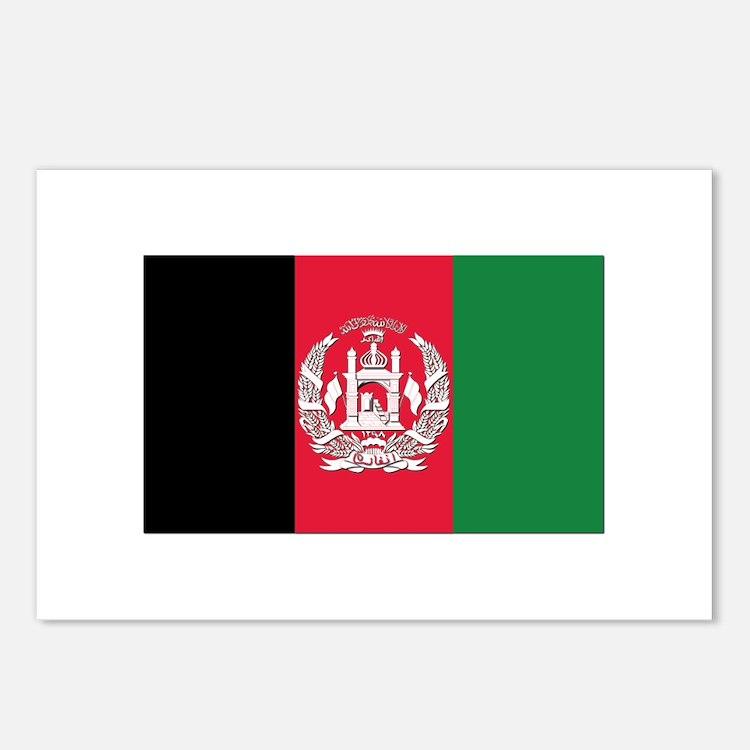 Flag of Afghanistan Postcards (Package of 8)
