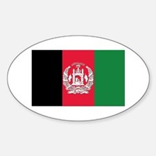 Flag of Afghanistan Sticker (Oval)