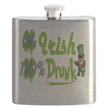 0%Irish100%drunk Flask