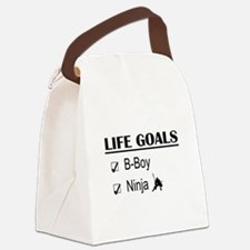 B-Boy Ninja Life Goals Canvas Lunch Bag