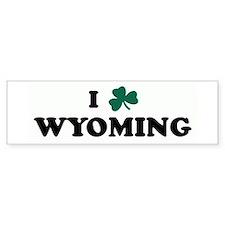 I Shamrock WYOMING Bumper Bumper Sticker