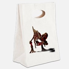 Playful T-Rex Canvas Lunch Tote