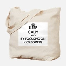 Keep calm by focusing on Kickboxing Tote Bag