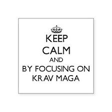 Keep calm by focusing on Krav Maga Sticker