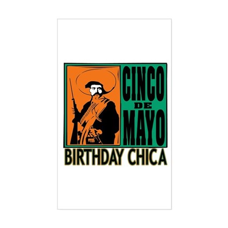 Cinco de Mayo Birthday Chica Sticker (Rectangle)