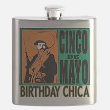 Cinco de Mayo Birthday Chica Flask