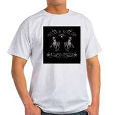 Horses with floral elements T-Shirt