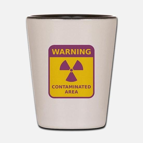 Contaminated Area Shot Glass