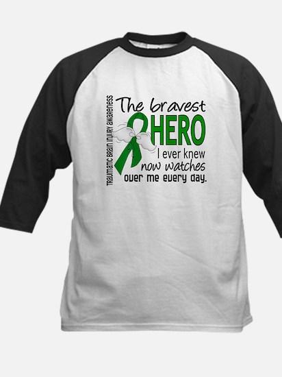Bravest Hero I Knew TBI Kids Baseball Jersey