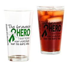 Bravest Hero I Knew TBI Drinking Glass