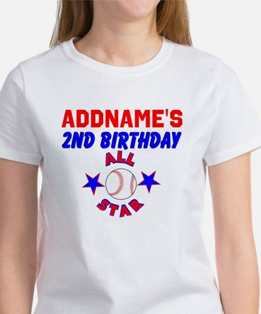 2 YR OLD BASEBALL Women's T-Shirt