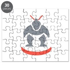 Japanese Sumo Wrestler Front Puzzle