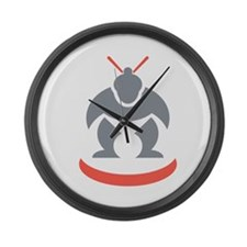 Japanese Sumo Wrestler Front Large Wall Clock