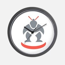 Japanese Sumo Wrestler Front Wall Clock