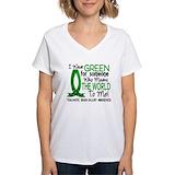Tbi awareness Womens V-Neck T-shirts