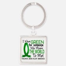 Means World to Me 1 TBI Square Keychain