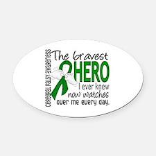 Bravest Hero I Knew Cerebral Palsy Oval Car Magnet