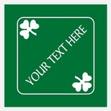St Patricks Day Border CUST Invitations