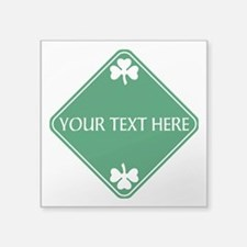 "St Patricks Day Border CUST Square Sticker 3"" x 3"""