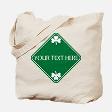 St Patricks Day Border CUSTOM TEXT Tote Bag