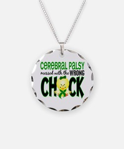 Messed With Wrong Chick 1 Cerebral Palsy Necklace