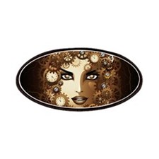 Steampunk Girl Portrait Patches