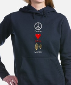 Peace Love Morels Hooded Sweatshirt