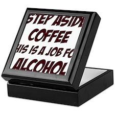 Funny alcohol designs Keepsake Box