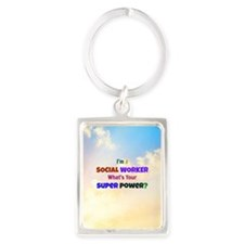 I'm a Social Worker. What's Your Portrait Keychain