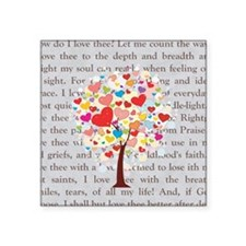 "How Do I Love Thee Square Sticker 3"" x 3"""