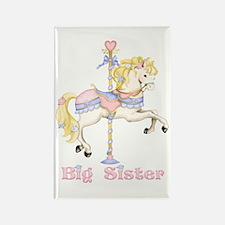 Carousel Pony Big Sister Rectangle Magnet
