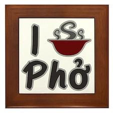 I Eat Pho Framed Tile