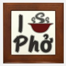 I Eat Pho Framed Tile