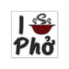 "I Eat Pho Square Sticker 3"" x 3"""