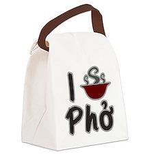 I Eat Pho Canvas Lunch Bag