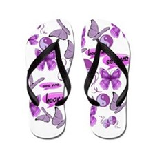 Invisible Illness Collage Flip Flops