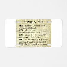 February 24th Aluminum License Plate
