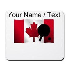Custom Table Tennis Canadian Flag Mousepad