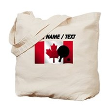 Custom Table Tennis Canadian Flag Tote Bag