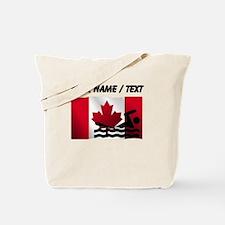 Custom Swimming Canadian Flag Tote Bag