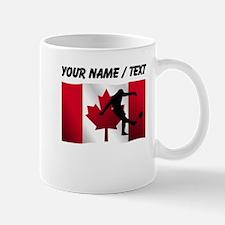 Custom Rugby Kick Canadian Flag Mugs