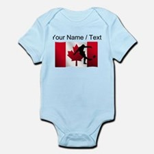Custom Rugby Kick Canadian Flag Body Suit