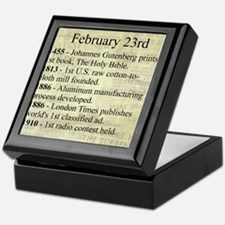 February 23rd Keepsake Box