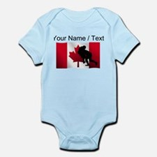 Custom Rugby Tackle Canadian Flag Body Suit